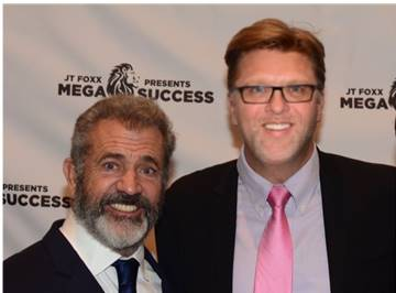 Alan with Mel Gibson