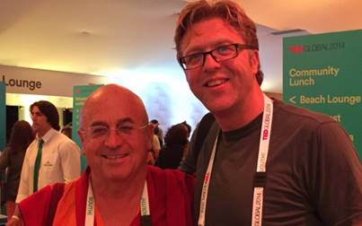 Alan at TED Global with Matthieu Ricard
