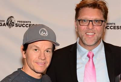 Alan with Mark Wahlberg
